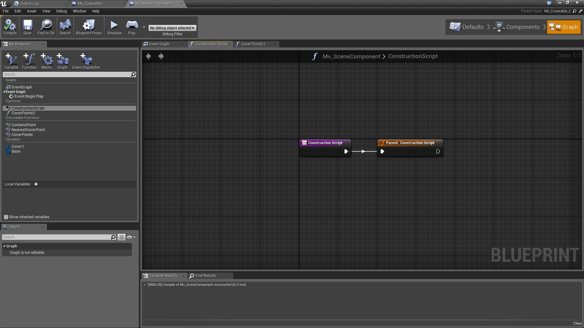Using blueprints in unreal engine 4 screenshot demonstrating invocation of base class capture method malvernweather Image collections
