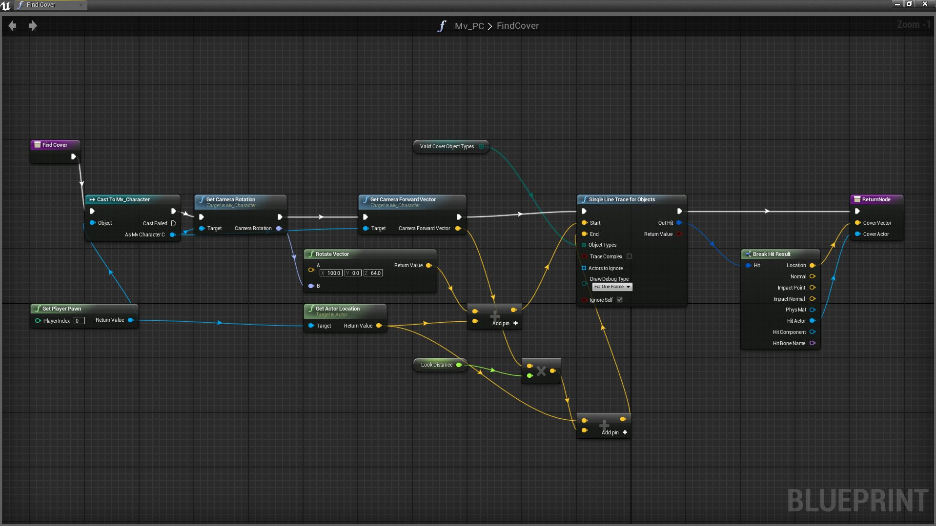 Using blueprints in unreal engine 4 finding stuff in front of us malvernweather Choice Image