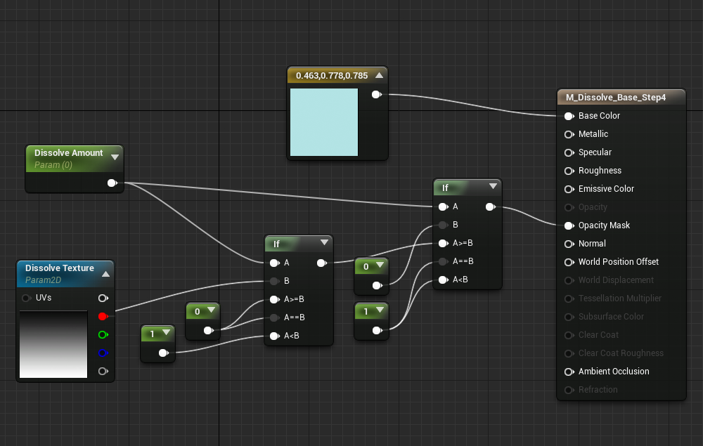 Disintegrating baddies dissolve effects in ue4 node graph step 4 malvernweather Gallery