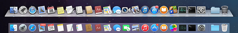 10.9 Mavericks dock vs 10.10 Yosemite