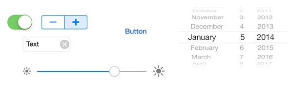 Screenshot of standard anroid controls