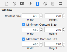 Size Inspector for the NSWindow instance.