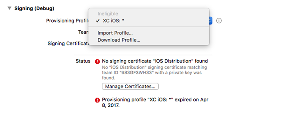 Xcode 9's Manual Provisioning Changes