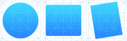 Yosemite Icon Shapes with Grid