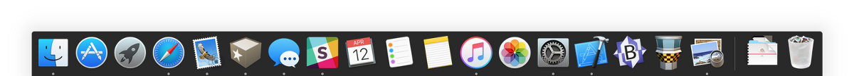 Screenshot of the Dock in OS X