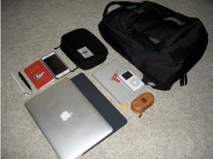 What Cory carries