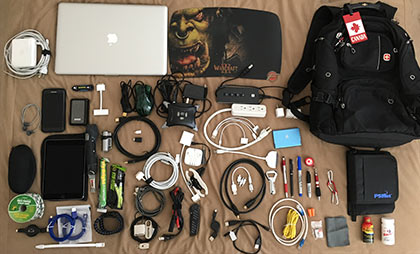 What Dave carries