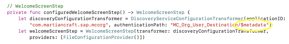 Metadata code update